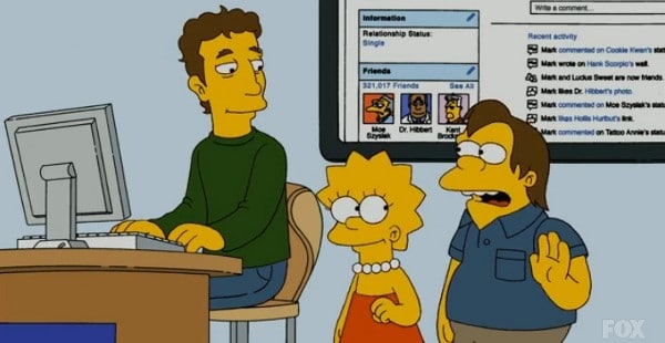 Mark Zuckerberg, Gastrolle bei den Simpsons