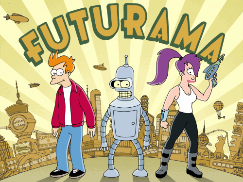 Futurama, Bender, Fry bei den Simpsons