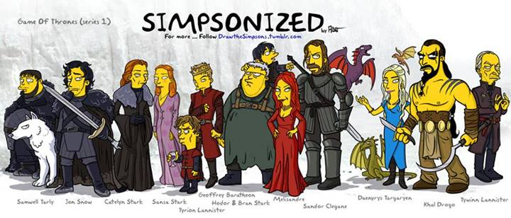 Games of Thrones in Simpsons Gelb