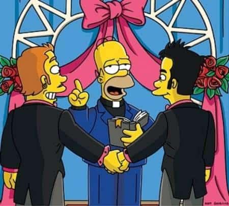 Simpsons Gay