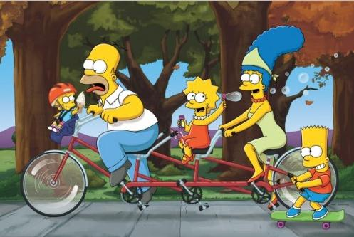 Maggie, Homer, Lisa, Marge und Bart - Die Simpsons