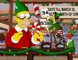 Simpsons Couchgag – White Christmas Blues