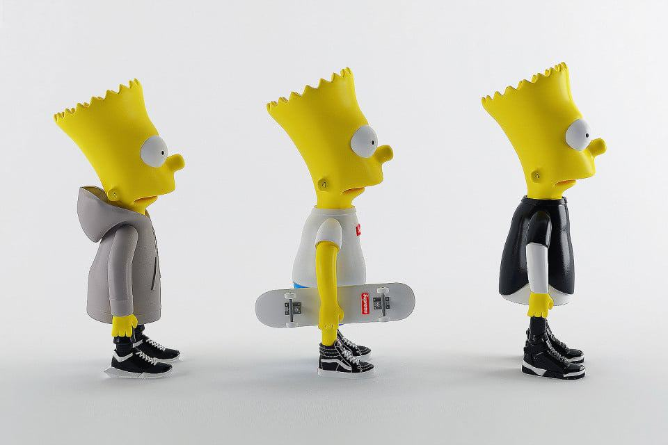 Bart Simpson in Supreme, Rick Owens, Givenchy High Fashion