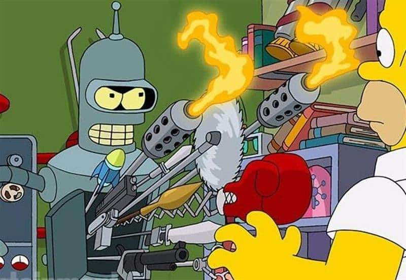 Bender trifft auf Homer- Crossover
