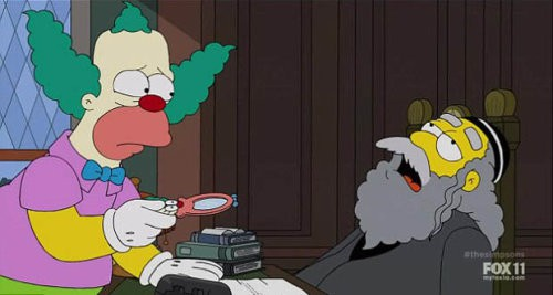 Hyman Krustofski der Vater von Krusty der Clown stirbt in der ersten Folge der 26. Staffel