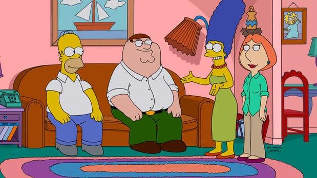 Weil Peter mit einem sexistischen Comic alle Frauen in Quahog gegen sich aufgebracht hat, beschließen die Griffins, zu fliehen. Leider kommen sie nicht weit - nachdem ihr Auto gestohlen wurde, stranden sie ausgerechnet in Springfield und schließen schnell Bekanntschaft mit den Simpsons. Die Familien verstehen sich super. Doch dann geraten Peter...